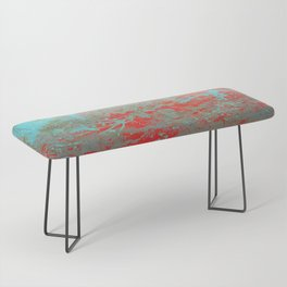 texture - aqua and red paint Bench