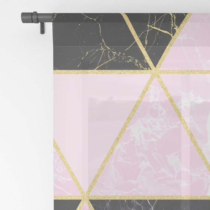 Geometric 964 // Sweet Peony Sheer Curtain
