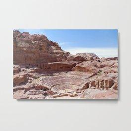 Petra Nabatean Ruins Sandstone Amphitheater Metal Print