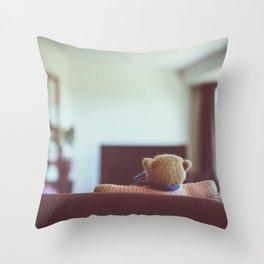 Tele Teddy Throw Pillow