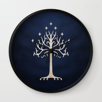 gondor Wall Clocks featuring For Gondor by enthousiasme
