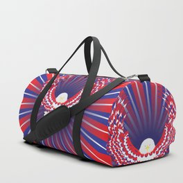 Blue red and white bald eagle Duffle Bag