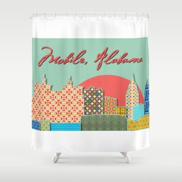 Mobile Patchwork Shower Curtain