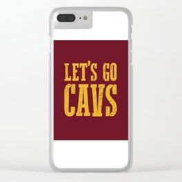 Let's Go CAVS NBA Design Clear iPhone Case