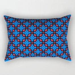 AB Disco Lattice in Red & Blue Rectangular Pillow