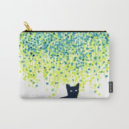 Cat in the garden under willow tree Carry-All Pouch