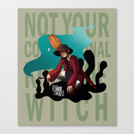 Not Your Conventional Kind of Witch Canvas Print