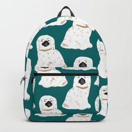Staffordshire Dog Figurines No. 1 in Emerald Backpack