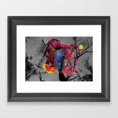 Digital painting collage series #1 Framed Art Print
