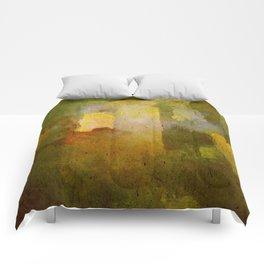 Oleo Green Comforters