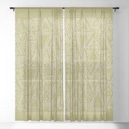 Screw You Ruler Said Triangle Sheer Curtain