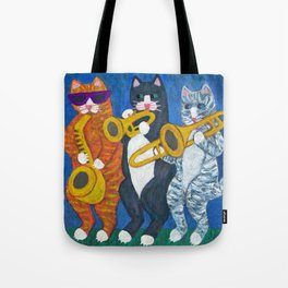 Salsa Cats Brass Section Tote Bag