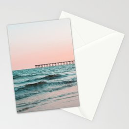 Beach Pier Sunrise Stationery Cards