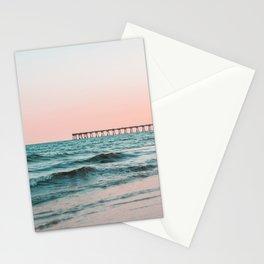 Beach Pier Sunrise Stationery Cards