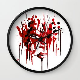 Encres rouge Wall Clock