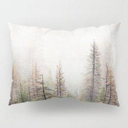 Misty Forest Scene Pillow Sham