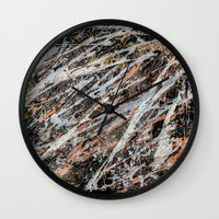 copper Wall Clocks featuring Copper ore by Bruce Stanfield