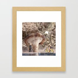 Shiitake Shelter Framed Art Print