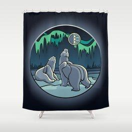 Tribal Bear Art Shower Curtain