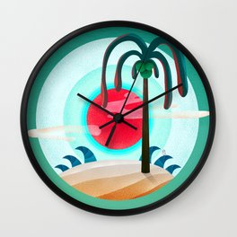 064 - Sunny chic island Wall Clock