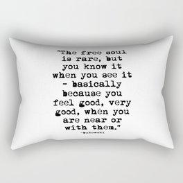 Charles Bukowski Quote Free Soul Rectangular Pillow