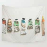 oil Wall Tapestries featuring Oil Paints by Cassia Beck