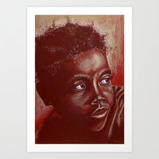 think about africa! Art Print