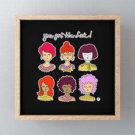 cute face redhead girl Framed Mini Art Print