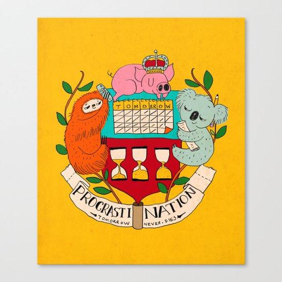 procrasti nation Canvas Print