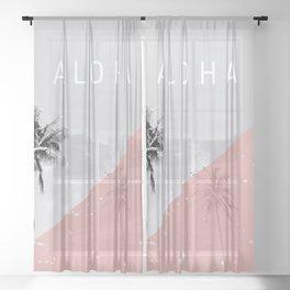 Island vibes - Aloha Sheer Curtain