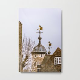 Weathervanes at Tower of London England Metal Print