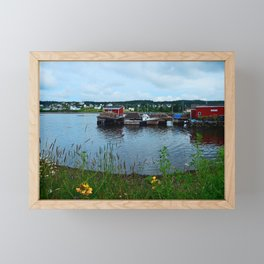 Fisherman's Wharf in Cape Breton Framed Mini Art Print
