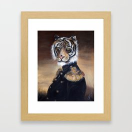 Painting tiger on a throne Framed Art Print