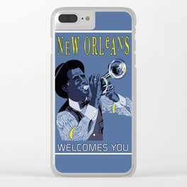 New Orleans welcomes you Clear iPhone Case