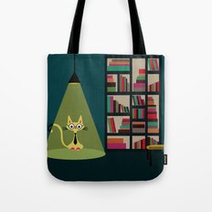 intellectual cat Tote Bag