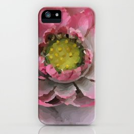 Lotos - Lotus Flower big close up Illustration iPhone Case