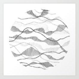 Segmented Flow Circle Art Print