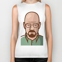walter white Biker Tanks featuring Walter White by Sherif Adel