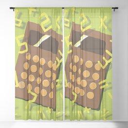 Numeric Escape Sheer Curtain