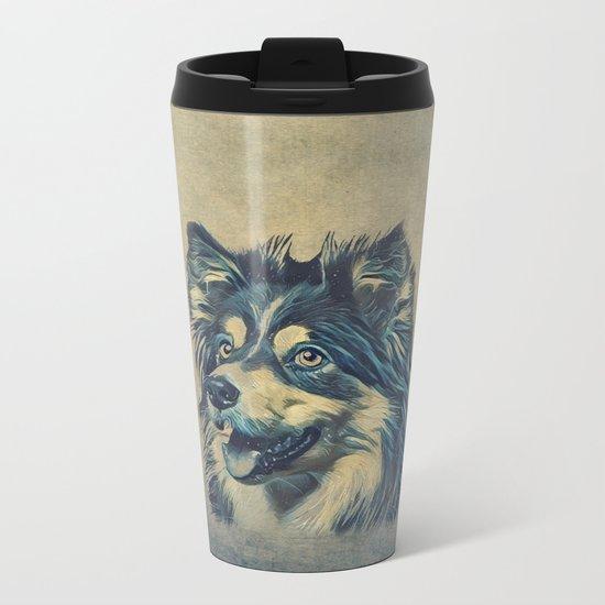 Shetland Sheepdog Painting Metal Travel Mug
