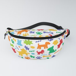 Colorful Dogs Pattern Fanny Pack