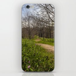 Troubled summer woods iPhone Skin