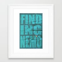 finding nemo Framed Art Prints featuring Finding Nemo by Garrett McDonald