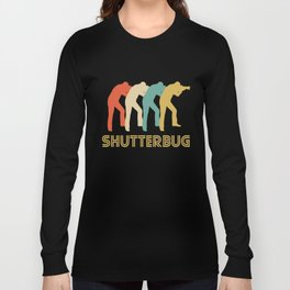 Shutterbug Retro Pop Art Photography Long Sleeve T-shirt