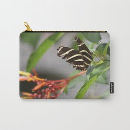 Zebra Longwing on a Firebush flower Carry-All Pouch