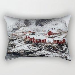 Mountain Village In Norway Rectangular Pillow