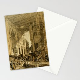 Roberts, David (1796-1864) - The Holy Land 1855, The silk-mercer's bazaar, Cairo Stationery Cards