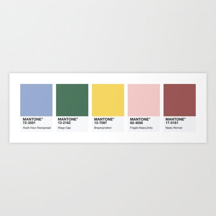 Mantone Colour Palette Art Print By Emilyskublics Society6