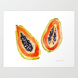 Papaya Paradise Art Print