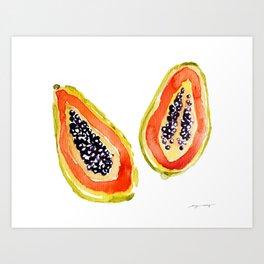 Papaya Paradise Art Print